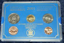 Schweden - Kursmünzensatz 2001 - stempelglanz