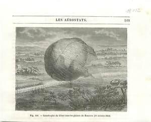 """Accident du ballon """"Le Géant"""" à Frehren Hanovre en 1863 aérostat GRAVURE 1890 - France - EBay Accident hot air balloon """"The Giant"""" in Frehren Hanover Germany Deutschland Allemagne in 1863 aerostat ANTIQUE PRINTGRAVURE 100 % DÉPOQUE 1890 PORT GRATUIT EUROPE A PARTIR DE 4 OBJETS BUY 4 ITEMS AND EUROPE SHIPPING IS FREE Il s'agit d'un f - France"""