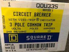 New Listingsquare D Circuit Breaker Qou 335 3 Pole New
