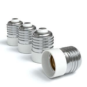 4x-Lampensockel-Adapter-E27-auf-E14-Fassung-Stecker-Gluehbirne-Konverter-Lampe
