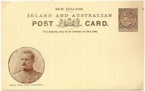 1900 Nouvelle-zélande Boer War Entiers Postaux Viewcard Major Robin Militaire Comme Neuf-afficher Le Titre D'origine Fixation Des Prix En Fonction De La Qualité Des Produits