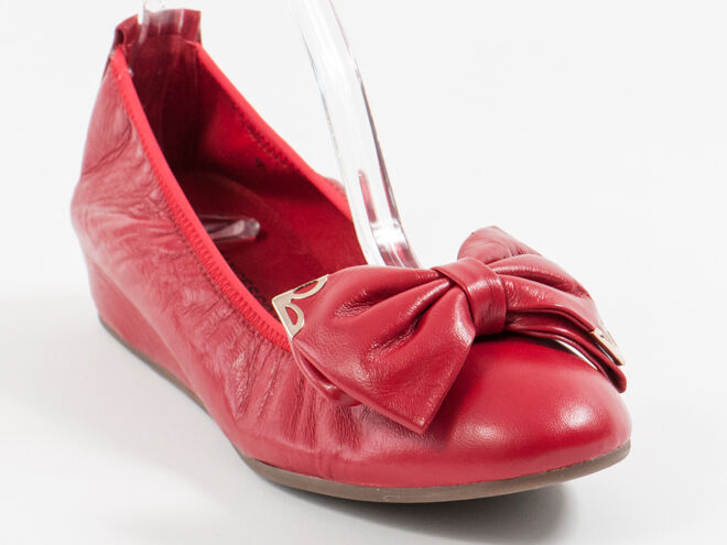 New  Francesco V. Red Bow Leather shoes Size 40 US 10