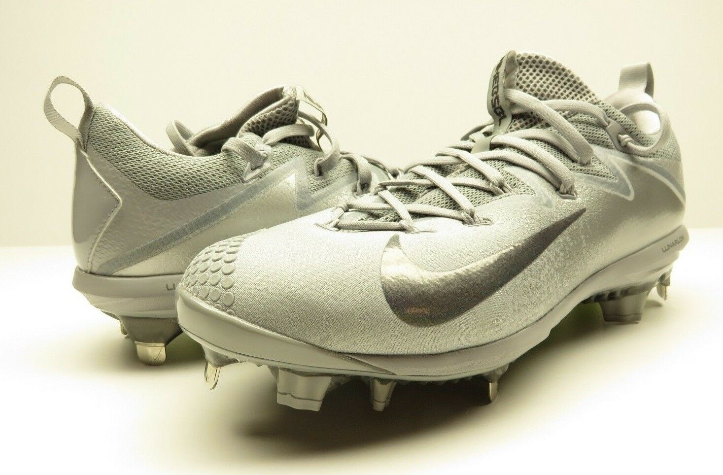 NEW w/o BOX Nike BSBL Silver Baseball Cleats Men's Size 11.5 Made in Vietnam
