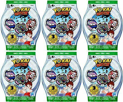 neuf 6 Blind Bags Yo-Montre Kai série 3 médailles 18 aléatoire médailles