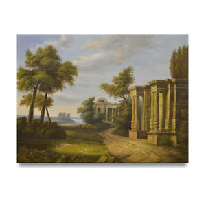 NY Art - Ancient Greece 36x48 Original Landscape Oil Painting on Canvas - Sale!