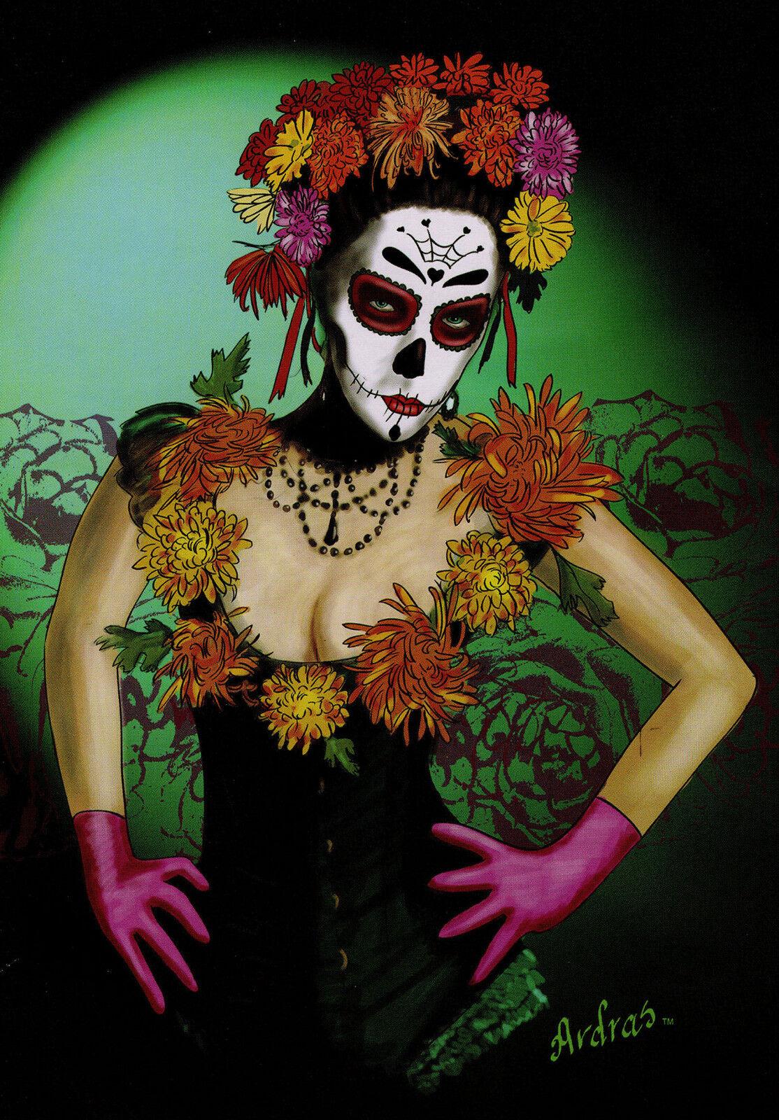 Peluche Doudou tepsbq-FLOR 72  X 88  Mexicain Day of the Dead Design