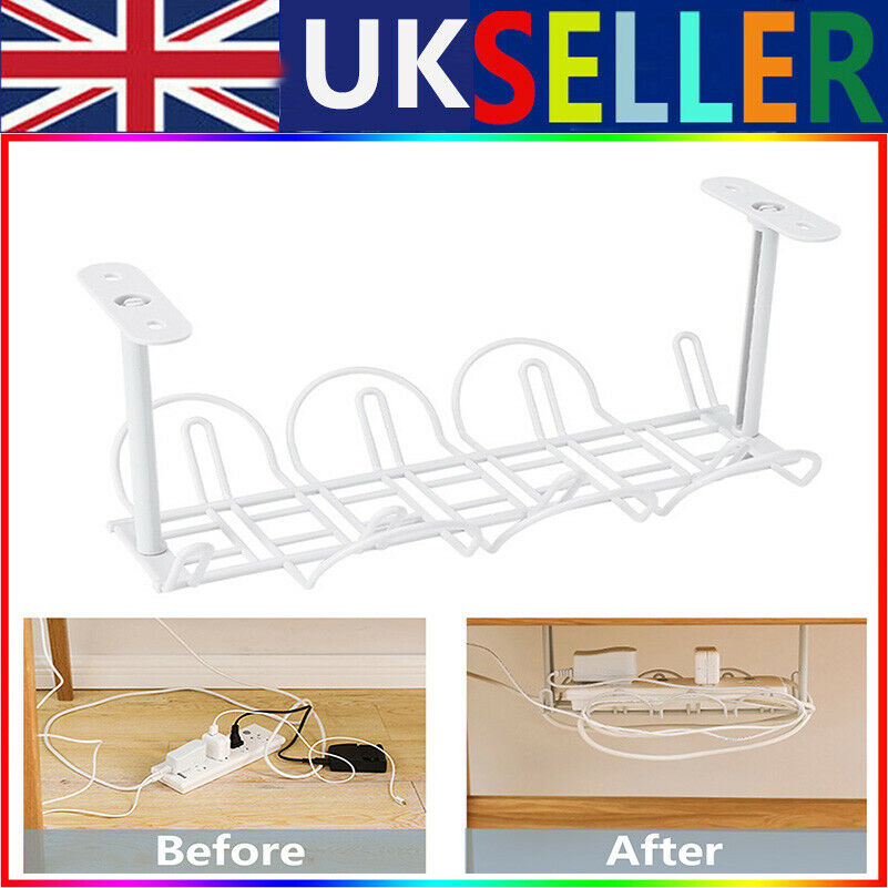 ABS Cable Management Tray 32cm Under Desk Cable Organizer for Wire Heavy UK