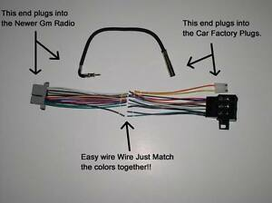 s l300 new factory radio stereo installation delco 16140051 wire wiring wiring harness adapter at fashall.co