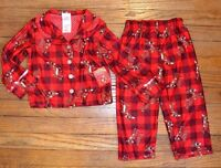 Rudolph The Red Nose Reindeer Licensed 2 Piece Toddler Flannel Pajamas Set