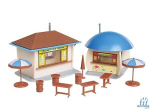Walthers-Food-Stands-x-2-Kit-931-919-HO-Scale-suit-OO-also