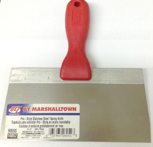 """QLT par Marshalltown 3512D Pro-style en acier inoxydable enregistrement couteau 8/"""" X 3/"""""""