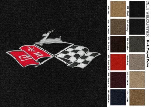 1994-1996 Lloyd Mats Velourtex Chevrolet Impala Cross Flags 4pc Floor Mats