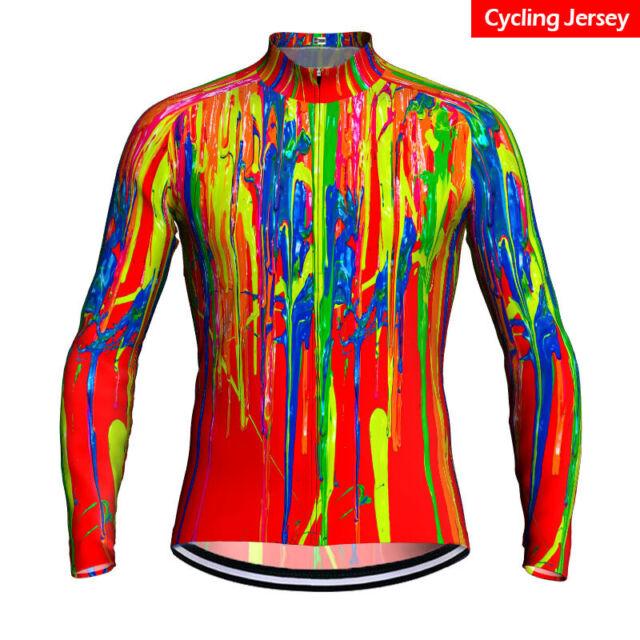 Cycling Jersey Jacket Bike Tight Shirt Thermal Jacket Long Sleeve Winter Warm