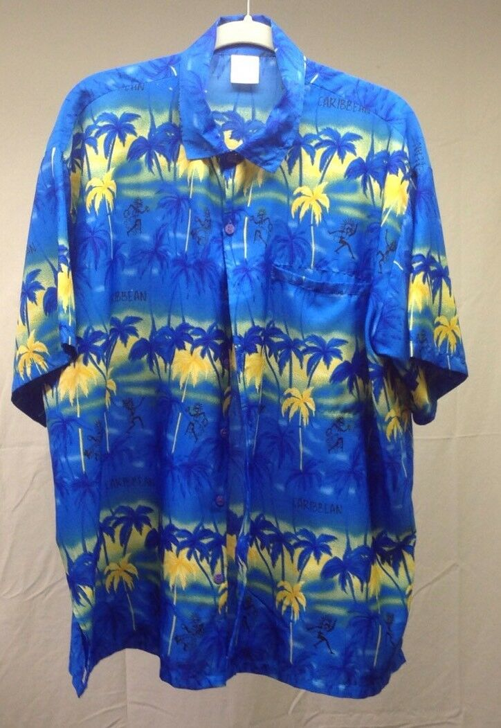 32786673 Rima Men bluee Floral Terivole Short Shirt XL A3-6 Hawiian Sleeve ...
