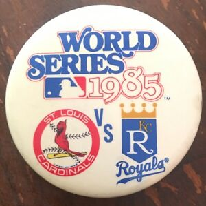 1985-Baseball-World-Series-St-Louis-Cardinals-Vs-Kansas-City-Royals-Button-Pin