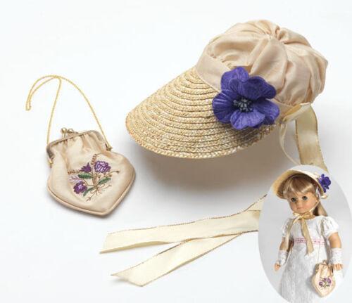 "For 18/"" American Girl Dolls Historical Era Straw Bonnet /& Handbag Carpatina"