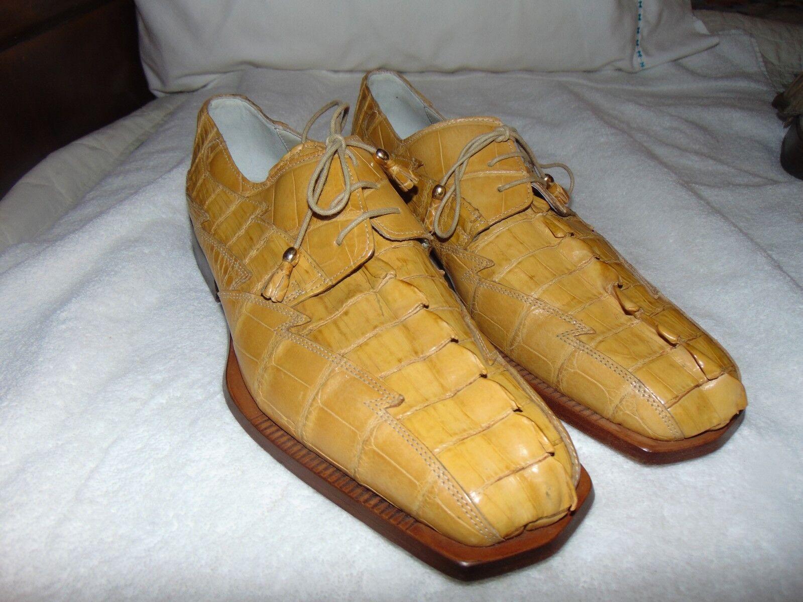 Fennix 2564 Uomo Italian Hornback Vintage Alligator Lace  Up Oxfords 12 /13  Lace 1399 7c5be0