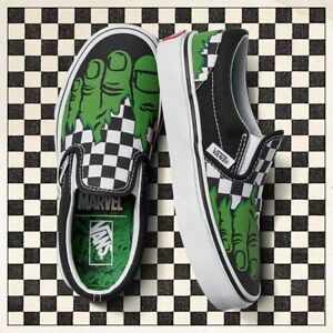 Details about VANS Marvel Hulk Checkerboard Classic Slip on Checkers Men  Shoes