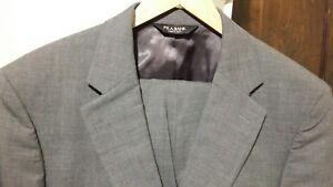JoS-A-BANK-2PC-2BTN-Men-039-s-Charcoal-Gray-Suit-Size-41R-Pants-34W-29-5-100-Wool