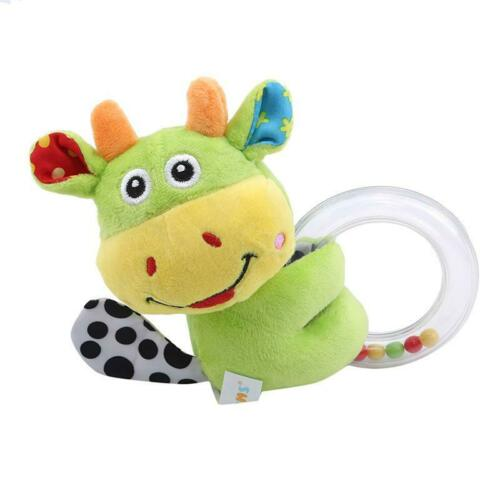 Baby Rabbit Plush Rattle Ring Bell Toddler Musical Soft Plush Toy Soft Dolls T