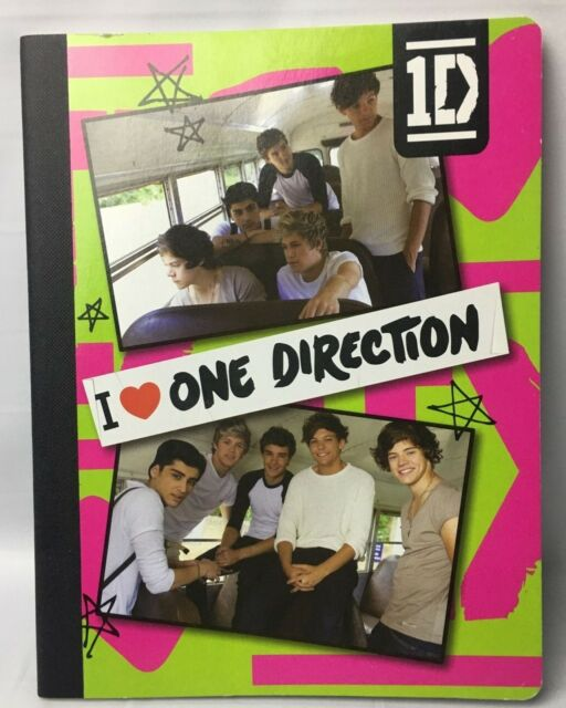One Direction - 1D - Harry Styles - Notebook - I love One Direction - FREE SHIP