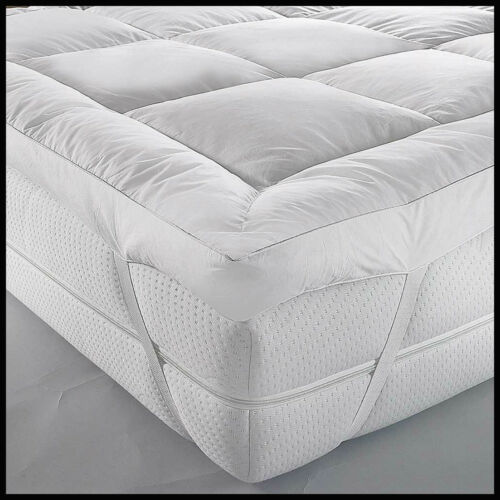 Super Soft Duck Feather /& Down Mattress Topper Extra Deep 5cm Avail In All Sizes