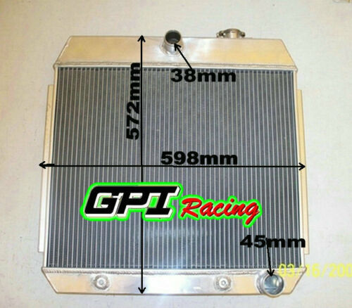 GPI ALUMINUM RADIATOR 55-57 56 CHEVY Nomad Bel Air SMALL BLOCK 150//210 SBC V8