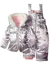U.S. Polo Assn. Baby Girls' Puffer Snowsuit Coat Snow Bibs 12 Months