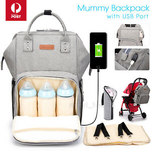Multifunctional-Large-Baby-Diaper-Backpack-Changing-Waterproof-Bag-Mummy-Nappy