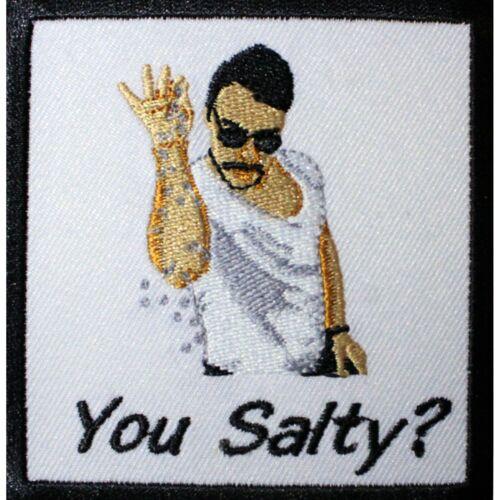 Salt Bae /'You Salty/' Emoji Meme Embroidered Patch