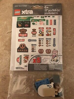 Lego 853921 Xtra Brick Stickers Pack Brand New Sealed Free Fast Shipping