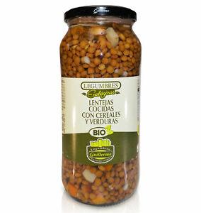Lentejas Cocidas con Cereales y Verduras Ecológicas BIO Extra 540gr,Guillermo