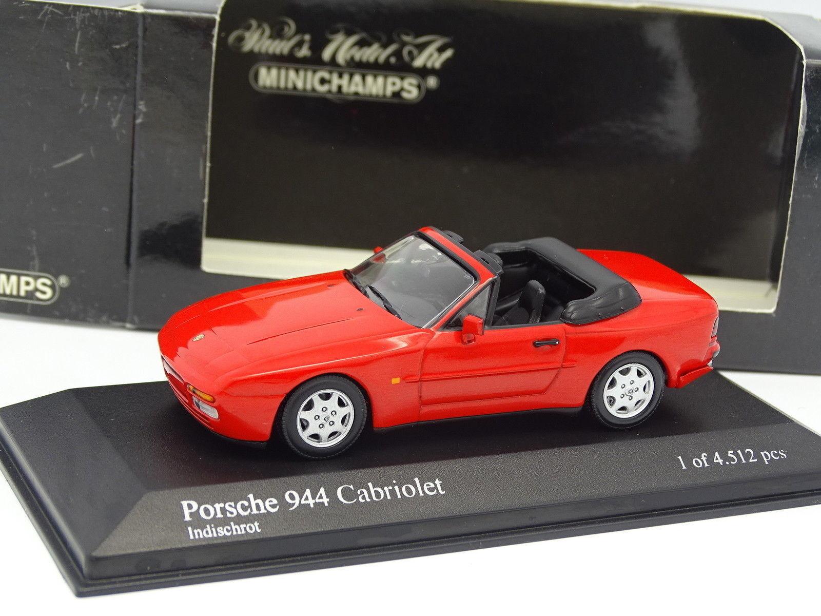 Minichamps 1 43 - Porsche 944 Cabriolet Rouge