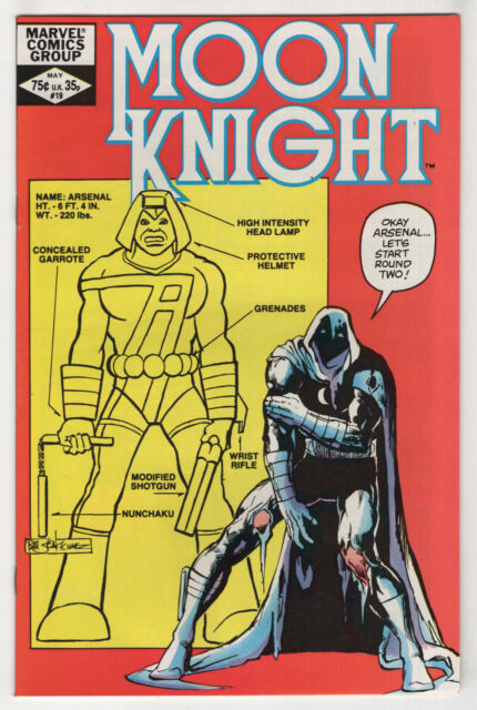 Moon Knight #19 (May 1982, Marvel) [Arsenal] Doug Moench, Bill Sienkiewicz cvX