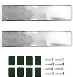 2-x-Chrome-Look-Car-Number-Plate-Holders-Frames-Surrounds