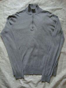 Uniqlo-Zip-Up-Jumper-Grey-Cashmere-Blend-Mens-Size-S-GUC