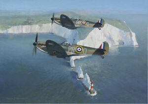 Supermarine Spitfire Mk.I Needles Isle of Wight Aircraft Plane Birthday Card