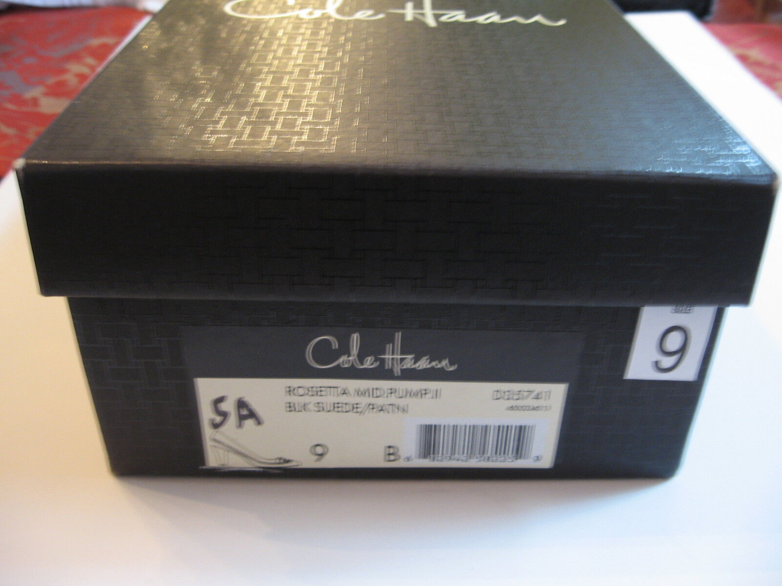 Nuevo Cole Haan Negro Patente Cuero Y Gamuza B Bombas-cerrado Toe-tamaño 9 B Gamuza c124f6