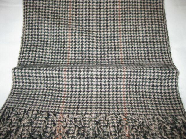 Glen Plaid, Scarf. 100% Wool.
