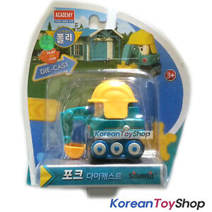 Robocar-Poli-POKE-Diecast-Metal-Figure-Toy-Car-Excavator-Academy-Genuine