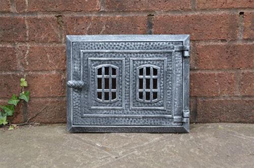 31.2 cm x 24.8 cm cast iron fire door clay//bread oven door//pizza smoke house