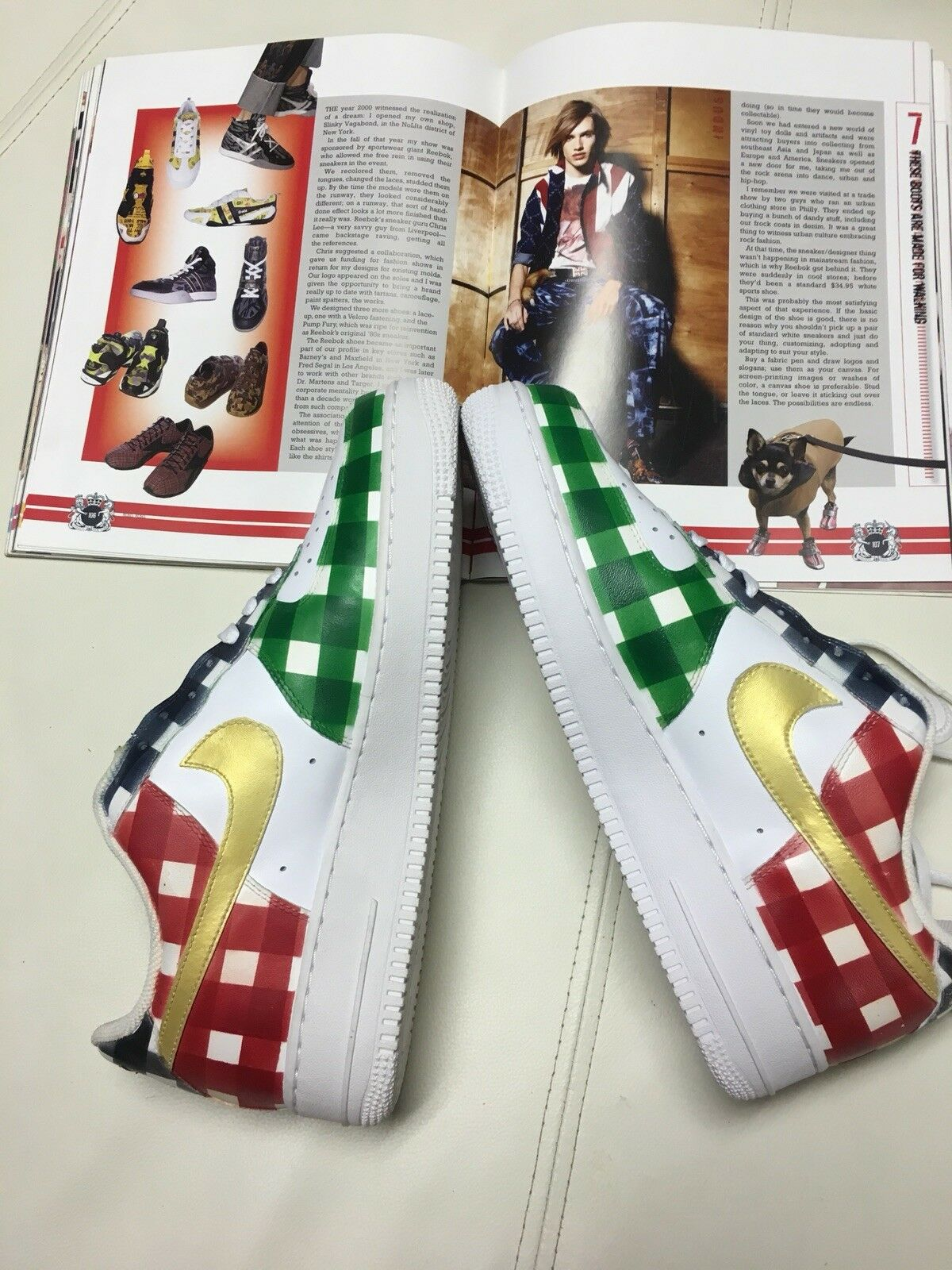 Nike Sabit Special Edition Air Force 1 shoes. Size 10. Designed By Sabit.