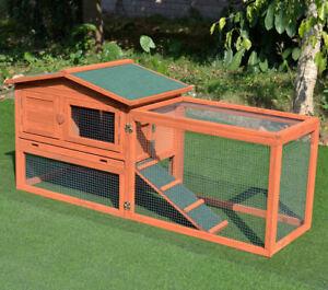 Good Life Wooden Outdoor Bunny Hutch Rabbit Cage Chicken Duck Coop Large  Pet House Pet381