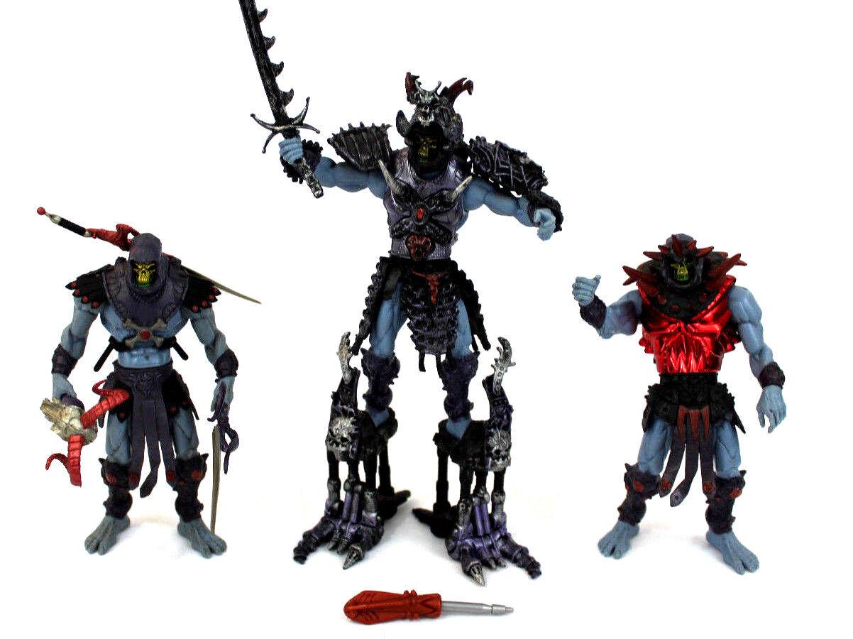 Motu 200x skeletor viele samurai kampf sound & standard version mattel, 2001 - 2002