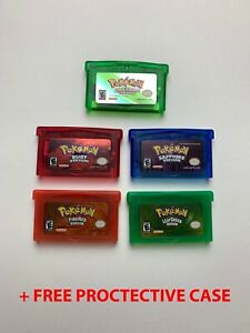 Pokemon-Emerald-Ruby-Sapphire-Leaf-Green-Fire-Red-GBA-Gameboy-Advance-SP