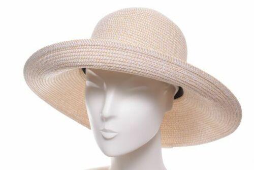 Betmar Paper Hut Gossamer natur Stroh Sommer Hut rollbar Hüte Sonnenschut