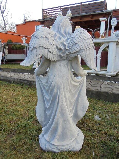Gartenfiguren Gartenfiguren Gartenfiguren Engel Statue aus Steinguss H.95 cm Steinfiguren Top Gartendeko 637738