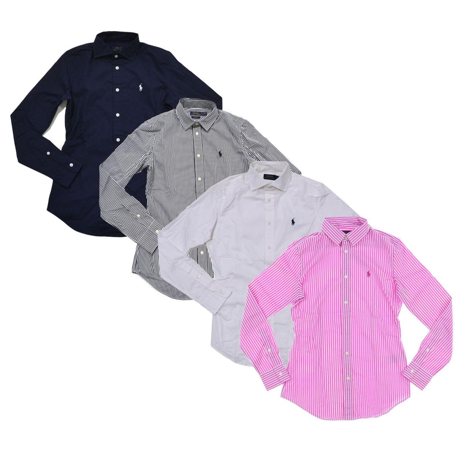 Polo Ralph Lauren damen Long Sleeve Buttondown Shirt Woven Button Up Top New