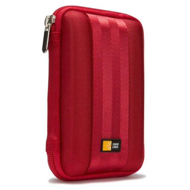 Case Logic QHDC101 Portable Hard Drive Case Red NEW