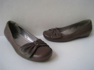 718400ff5a6 ECCO WEDGE LEATHER LOAFERS SHOES WOMEN S SIZE US 6 - 6.5 EUR 37 ...